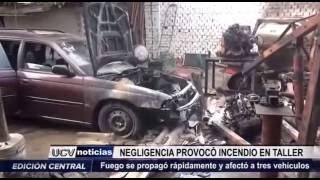 Víctor Larco: Negligencia provocó incendio en taller de mecánica