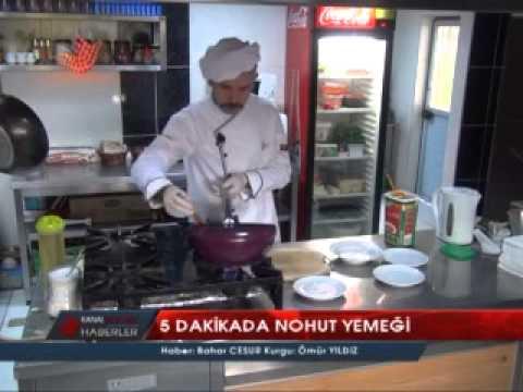 5 dakikada nohut yemeği pişirilebilir mi?