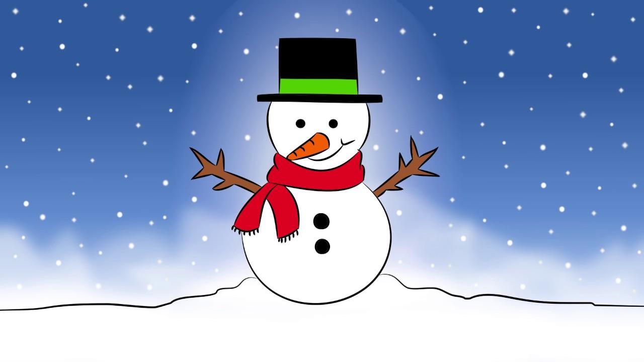 C mo dibujar una mu eco de nieve dibujos de navidad - Munecos de nieve para dibujar ...