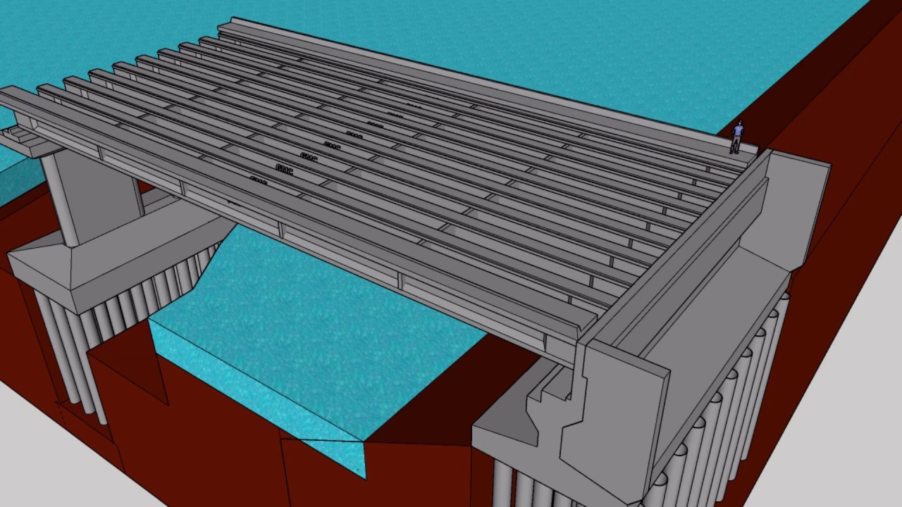 Animasi Sederhana Struktur Jembatan Beton Prategang Youtube