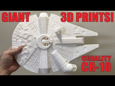 Print Giant Things on the Creality CR-10! (3D Printer Unboxing & Review)