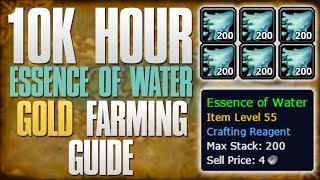 WoW Gold Farming: How To Farm Essence Of Water! 7.0.3 10k Gold Hour Group Farming Tutorial!