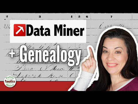 Use Data Mining To Research Online Genealogy Record Sets - Genealogy Brick Wall Busting Tutorial