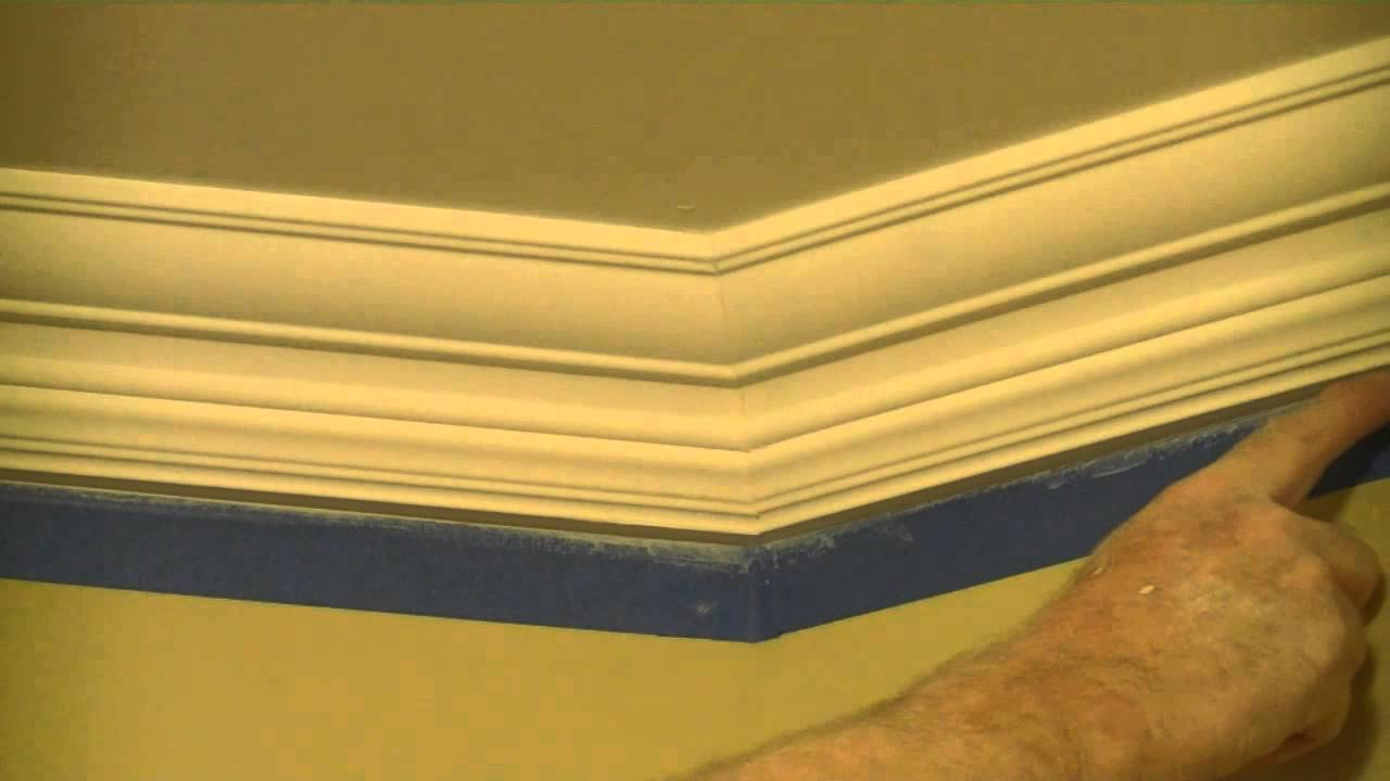 How To Paint Crown Molding With Tape