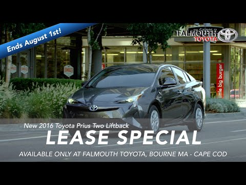 New 2016 Toyota Prius Two Hybrid Lease Special At Falmouth Toyota, Bourne MA - Cape Cod
