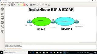 Redistribute RIP & EIGRP