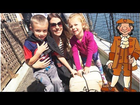 FORCING KIDS TO LEARN HISTORY Mwahahahaha! Boston Family Vacation