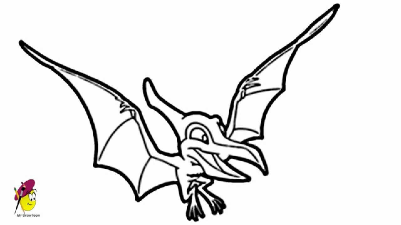 flying dinosaur how to draw dinosaur youtube
