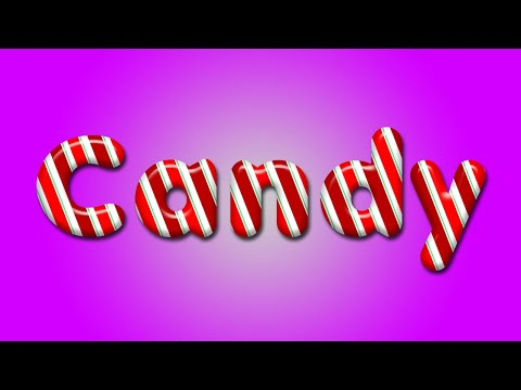 How To Create Candy Text In Photoshop | Photoshop Effects | Text Effects In Photoshop
