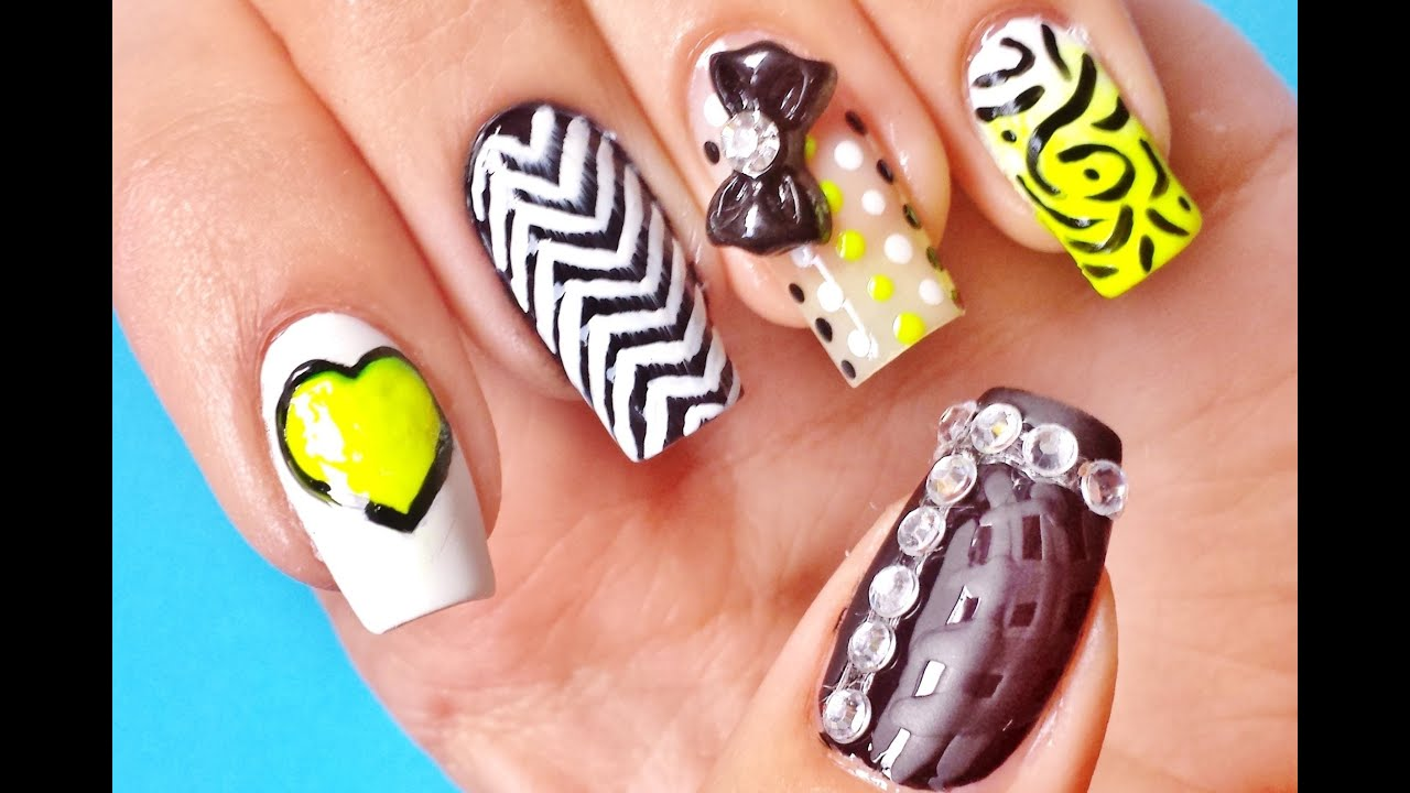 Hot nails cute designs for back to school 2013 youtube prinsesfo Gallery