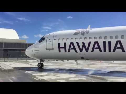 Hawaiian Airlines NEW LIVERY Unvealing Event - Boeing 717-200 N488HA