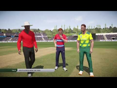 ENGLAND VS SOUTH AFRICA 1ST T20 2017 IN DON BRADMAN CRICKET 17 PS4( SOUTH AFRICA TOUR OF ENGLAND)