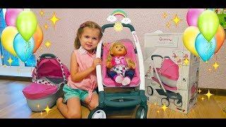 Новая коляска для Куклы Беби Борн! Играет в куклы КАК МАМА! New stroller for Doll Baby born!