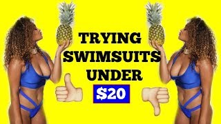 TRYING SWIMSUITS UNDER $20 | ZAFUL SWIMSUIT TRY ON HAUL Mp3
