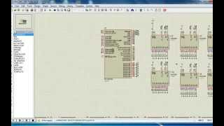 Quét 10 Led Matrix _ PIC 16F877A + IC 74HC595.flv