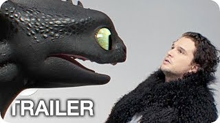 Drachenzähmen leicht gemacht 3 Kİt Harington Casting Clip & Trailer German Deutsch (2019)