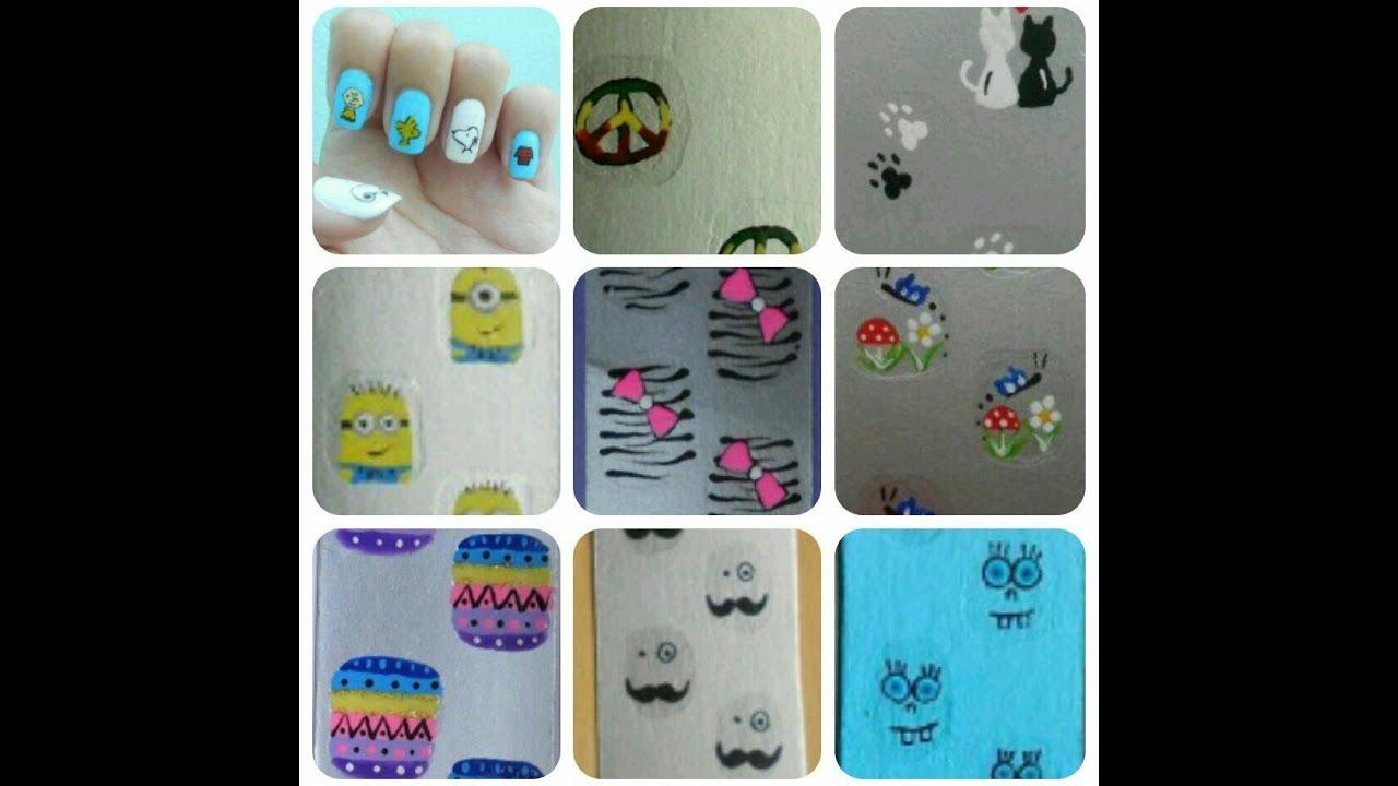 Artesanato Ponta Negra ~ Como fazer adesivos artesanais de unhas na caixinha de