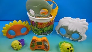 2015 plants vs zombies set of 7 burger king kids meal toys video review