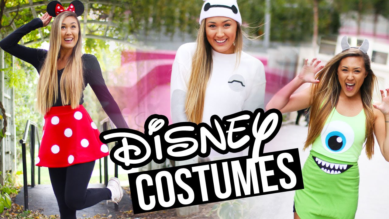 DIY DISNEY/PIXAR HALLOWEEN COSTUMES Baymax, Minnie \u0026 Monsters Inc.