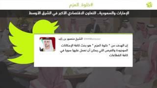 سمو الشيخ منصور بن زايد: حجم الاقتصاد بين السعودية والإمارات الأكبر في الشرق الأوسط