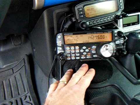 N4LSM mobile ham radio installation  Kenwood TS480 and