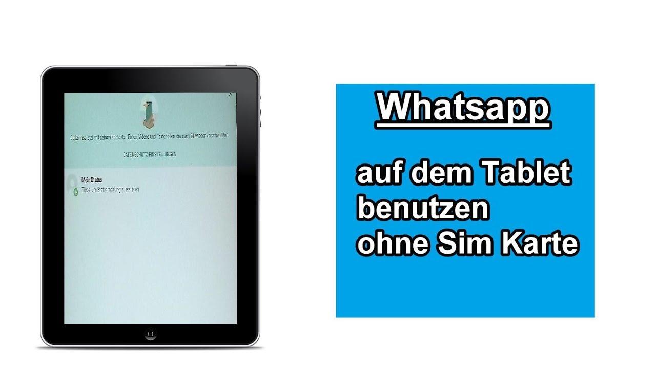 Whatsapp Ohne Sim Karte Nutzen.Whatsapp Ohne Sim Karte Nutzen Und Auf Tablet Einrichten Anleitung