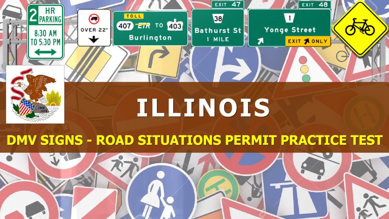 illinois drivers license test road signs