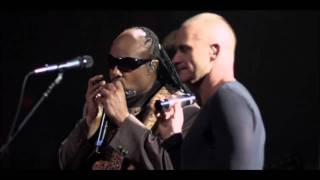 Sting and Stevie Wonder -