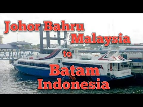 Ferry Johor Bahru, Malaysia to Batam, Indonesia -- This starts the Indonesia journey.
