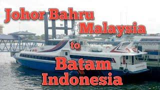 Ferry Johor Bahru, Malaysia to Batam, Indonesia -- This starts the Indonesia journey.