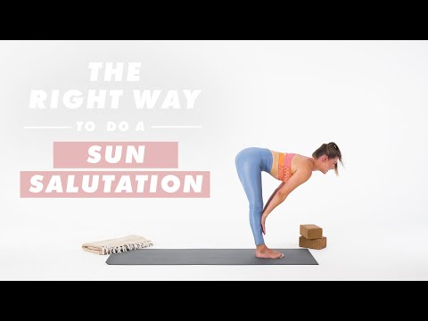 How To Do A Sun Salutation | The Right Way | Well+Good