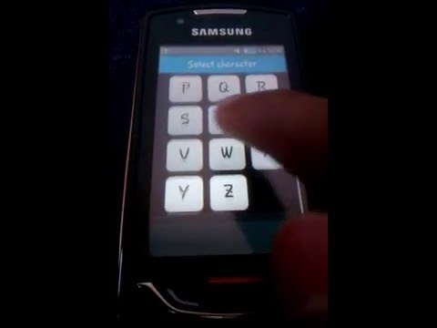 samsung monte S5620 gesture unlock feature