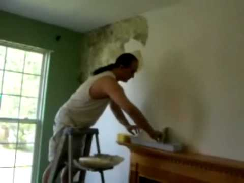 How to Install - Faux Finish Wallpaper (Paper Illusion) - YouTube