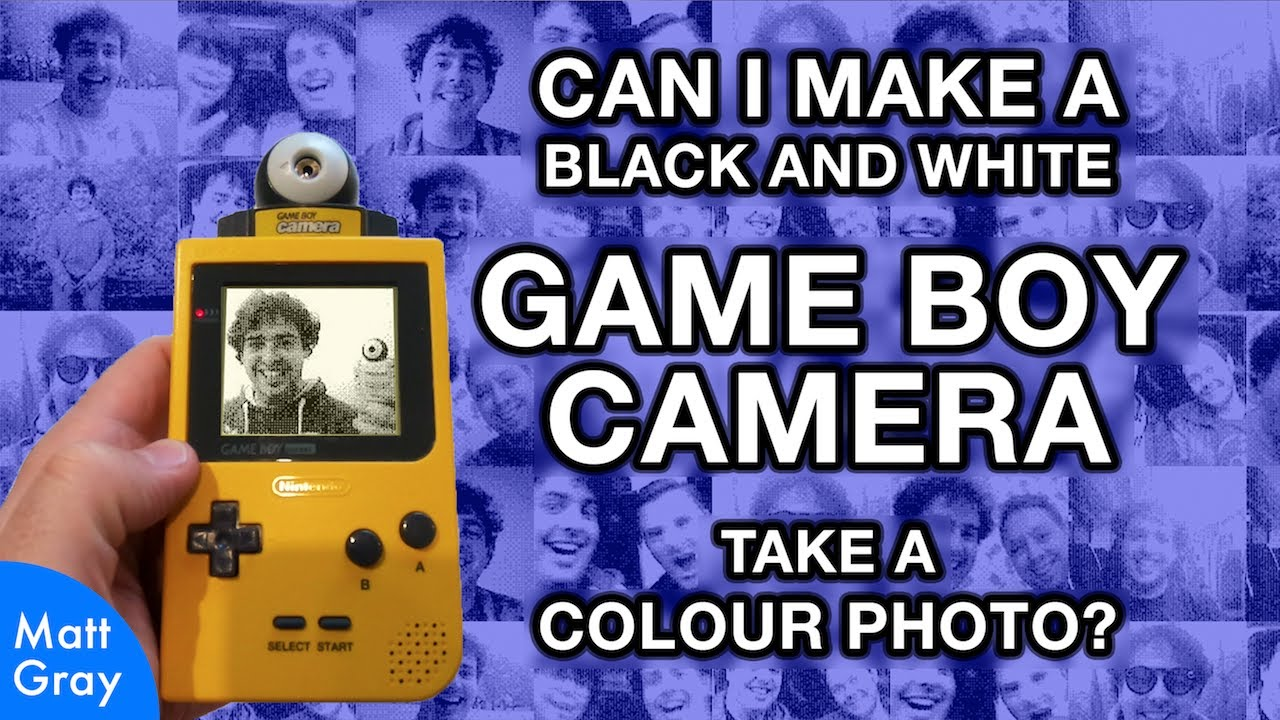 Youtube Thumbnail Image: Game Boy Camera: Can I Make It Take A Colour Photo?