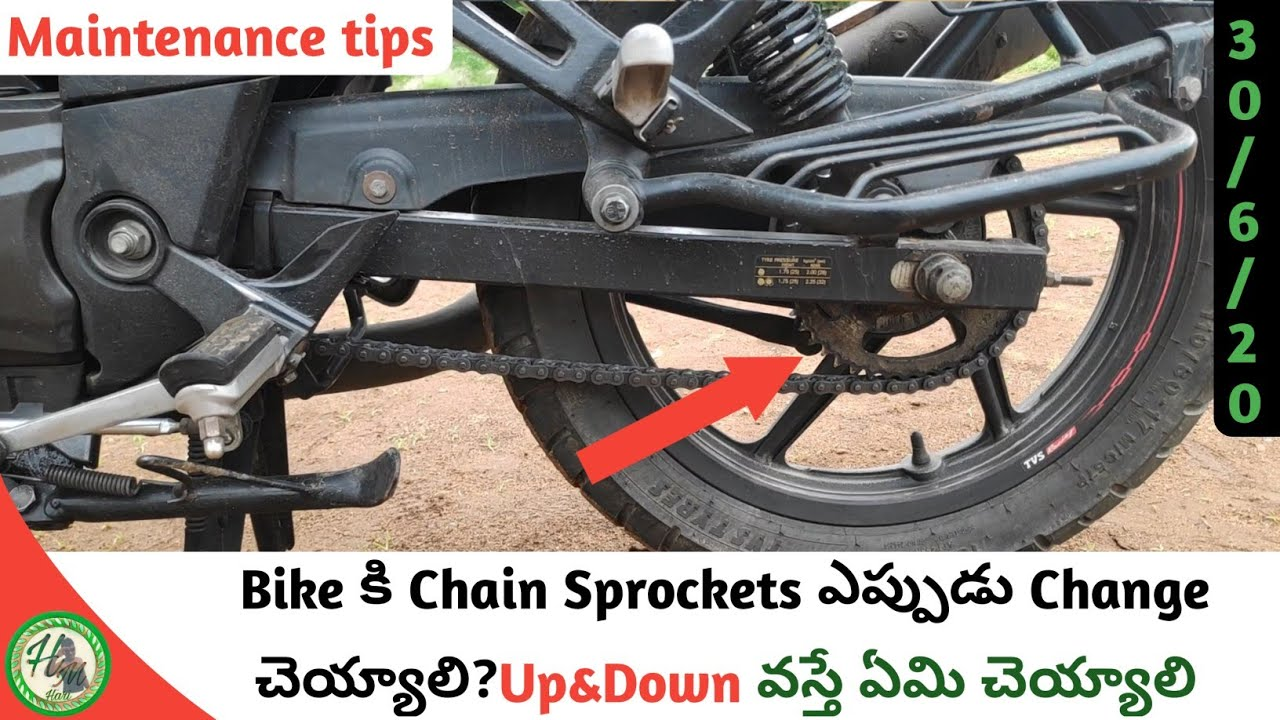 When We Change Bike Chain Sprockets And What We Do Its Come Up&Down? || Hari Mec