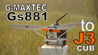G-MAXTEC GS881 CONVERT TO PIPER CUB | VERY SLOW PLANE | EASY TO FLY