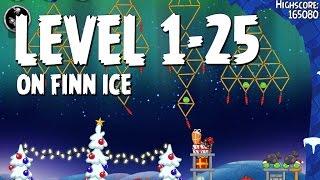 Angry Birds Seasons On Finn Ice 1-25 Walkthrough 3 Star