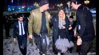Aygun Kazimova Qeebele konserti Qarli havada Diva yeni avtomobili ile ATV 10LAR