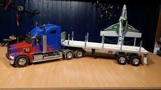 Оптимус Прайм ... Грузовик на радиоуправлении Tamiya Truck, часть 8(Сборка прицепа для радиоуправляемого грузовика Tamiya. Решил купить открытый прицеп, так как на нем можно..., 2015-04-24T07:26:48.000Z)