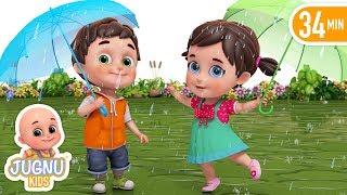 barish aayi cham cham cham - hindi poems - hindi rhymes for children by jugnu kids