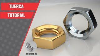 Tutorial Rhino 3D | Tutorial Rhino 5 Full | Modelar una Tuerca