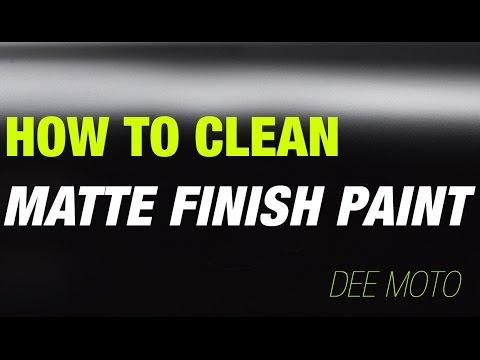 Clean matte paint