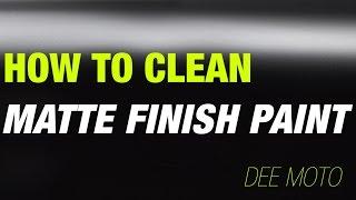 Ducati Panigale Matte Paint:  Clean It Cheap, Easy, & Safe