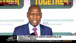 COVID-19 Pandemic   Minister Mkhize briefs media following visit to KZN clinic and hospitals