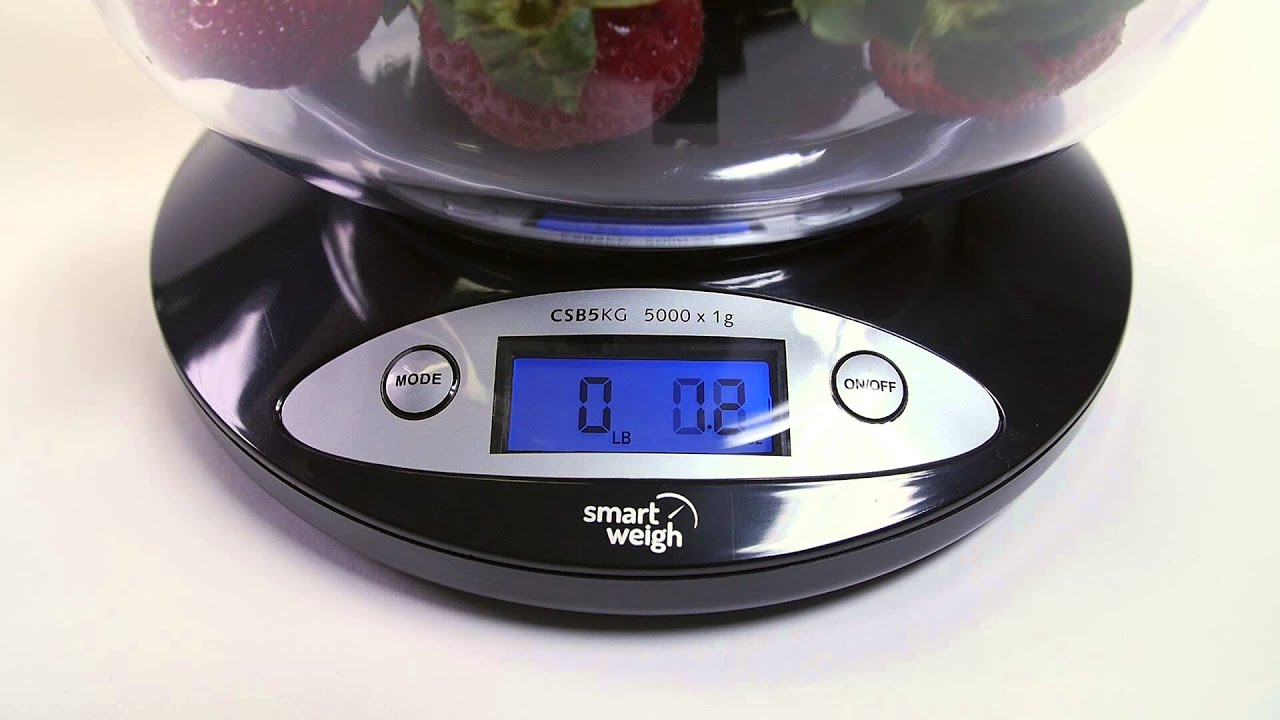 Smart Weigh   Kitchen Food Scale With Bowl
