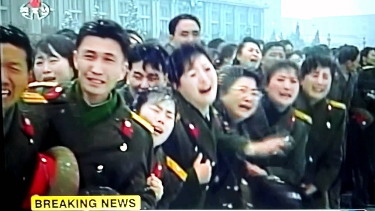 Are North Korean's tears for Kim Jong Il fake? - YouTube