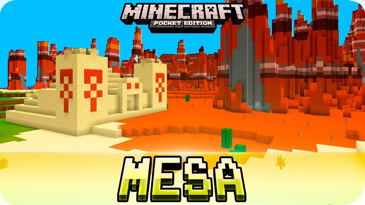Minecraft Pe Seeds - Mesa With Desert Temple  U0026 Abandoned Mineshaft Seed   0 16 0    0
