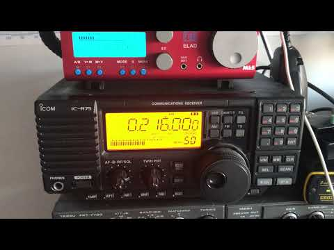 LW daylight signal Radio Monte Carlo 216 kHz Roumoules, copied on Icom IC-R75 and Perseus