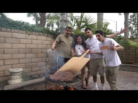 COOKING WORLDS LARGEST BURGER !! (ft. FAZE RUG AND BRAWADIS )
