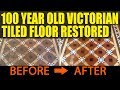 100 Year Old Victorian Tiled Floor Restored in Skipton